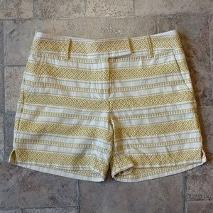 Ann Taylor Loft The Riviera striped retro shorts